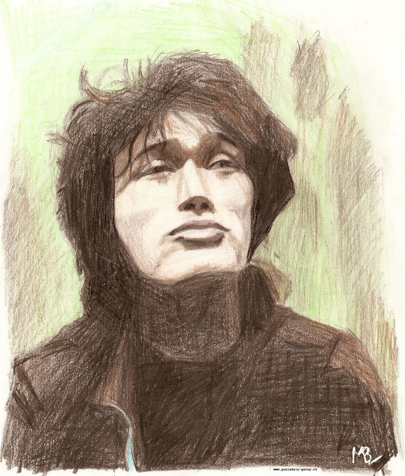 Первый портрет Виктора Цоя